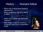 history humans follow