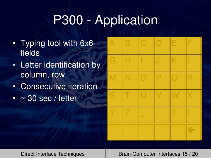P300 - Application