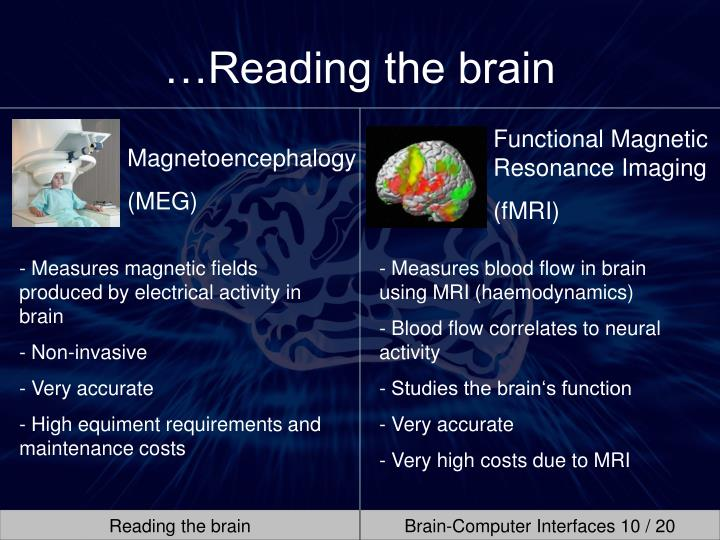 …Reading the brain