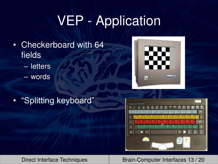 VEP - Application