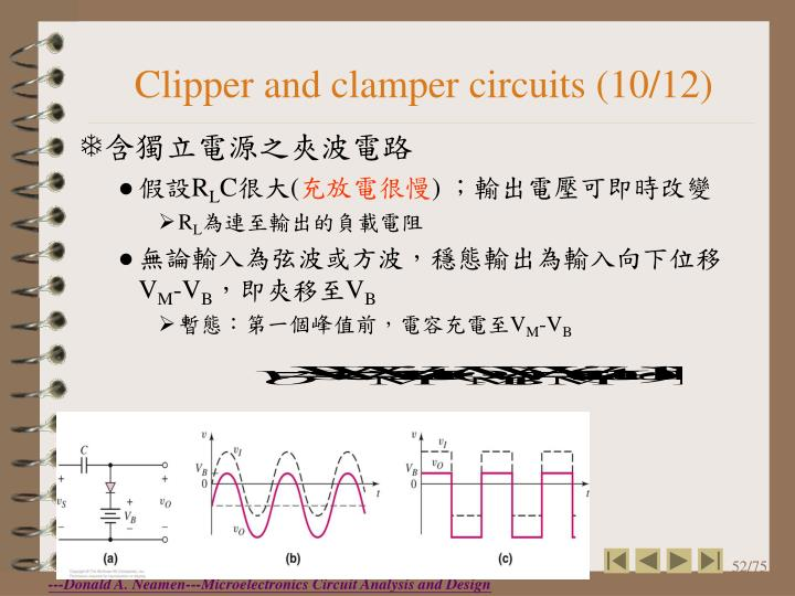 Clipper and clamper circuits (10/12)
