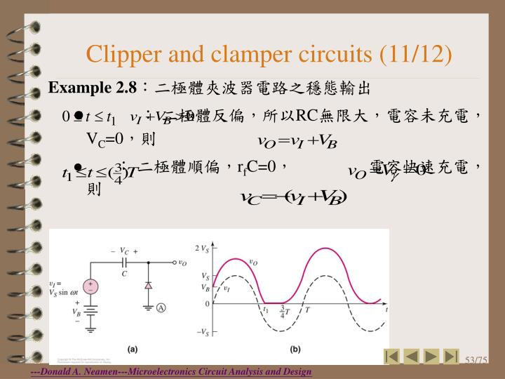 Clipper and clamper circuits (11/12)
