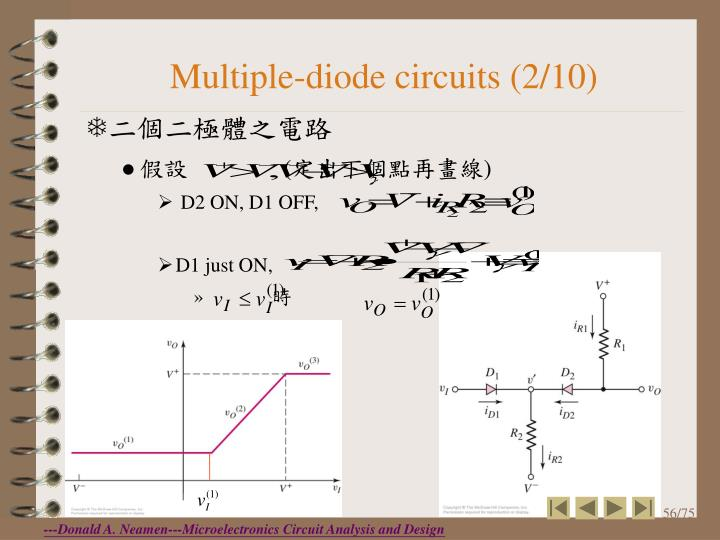 Multiple-diode circuits (2/10)