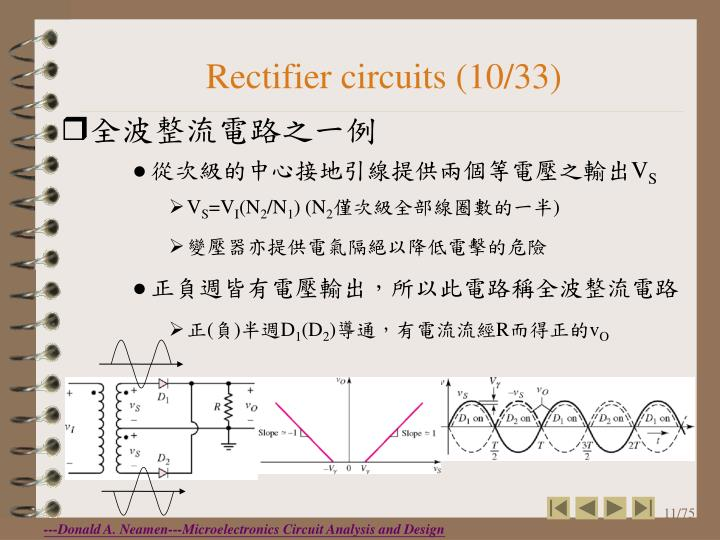 Rectifier circuits (10/33)