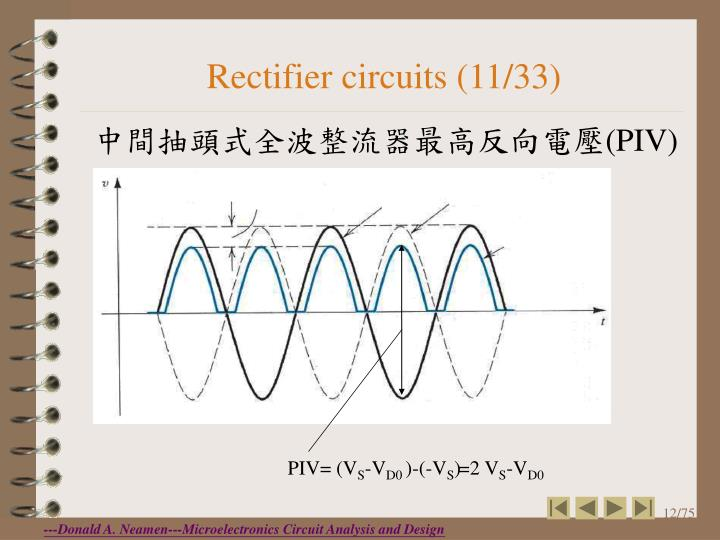 Rectifier circuits (11/33)