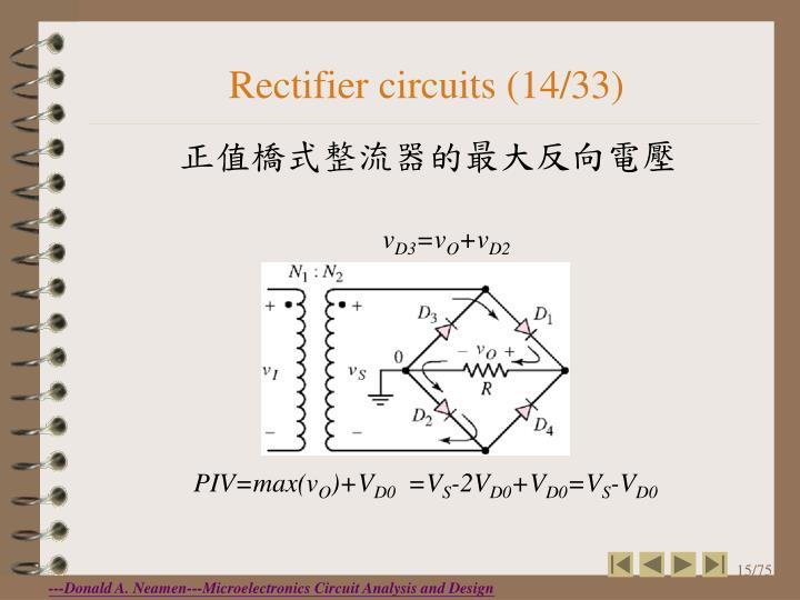 Rectifier circuits (14/33)
