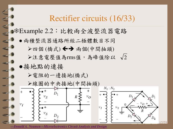 Rectifier circuits (16/33)
