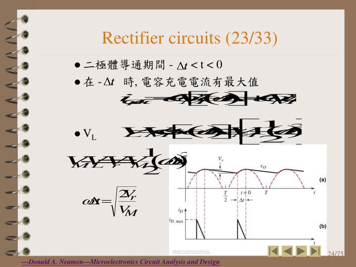 Rectifier circuits (23/33)
