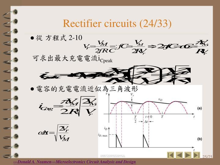 Rectifier circuits (24/33)