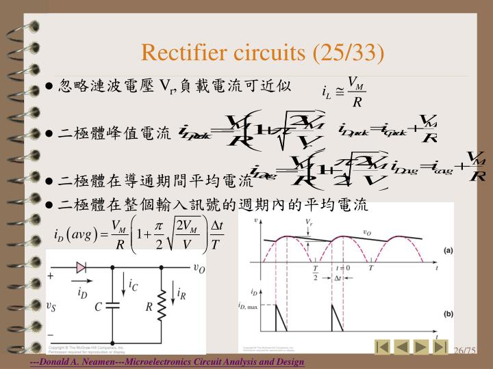 Rectifier circuits (25/33)