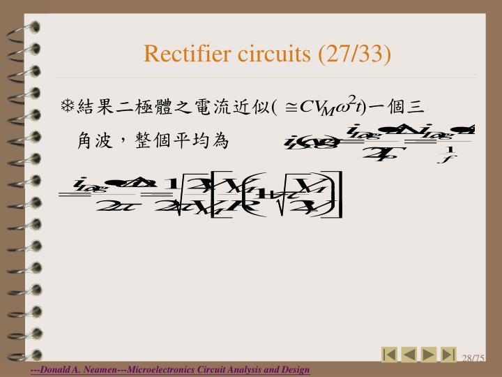 Rectifier circuits (27/33)