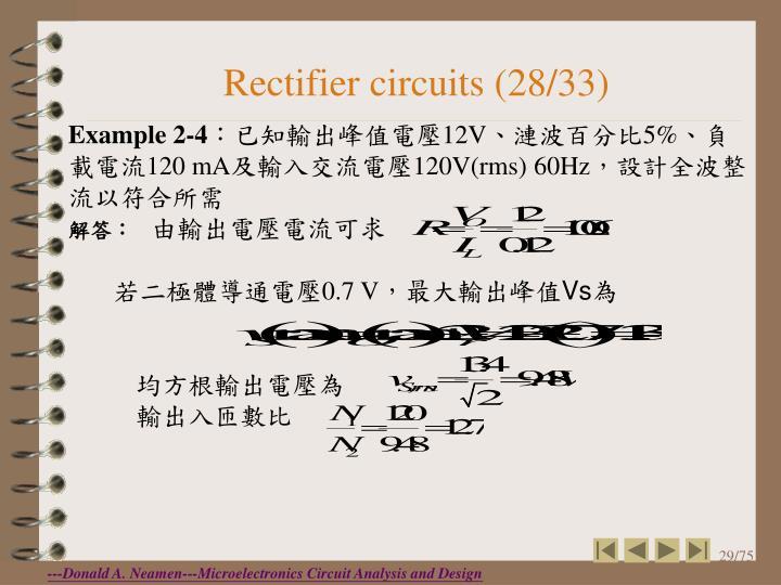 Rectifier circuits (28/33)