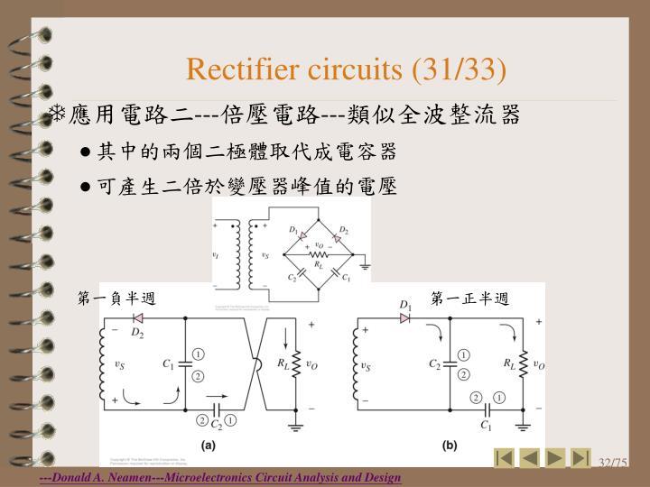 Rectifier circuits (31/33)