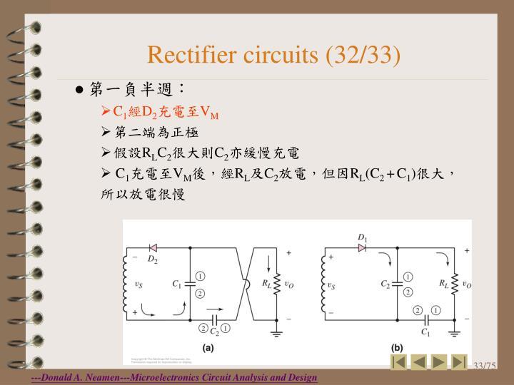 Rectifier circuits (32/33)