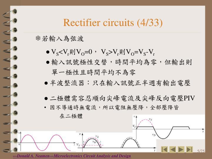 Rectifier circuits (4/33)