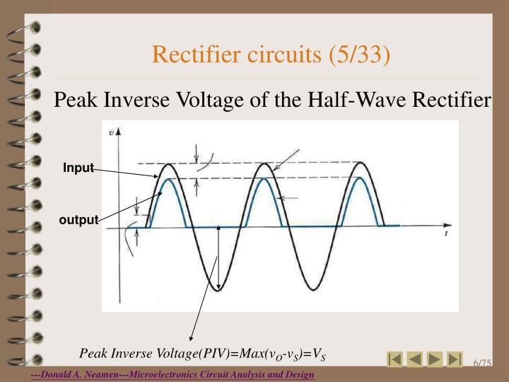 Rectifier circuits (5/33)