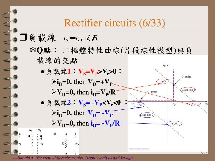 Rectifier circuits (6/33)