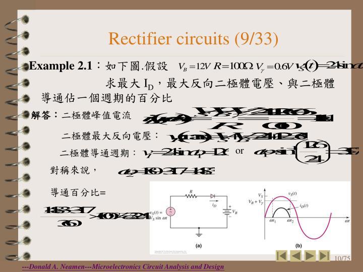 Rectifier circuits (9/33)