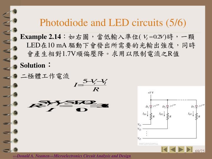 Photodiode and LED circuits (5/6)