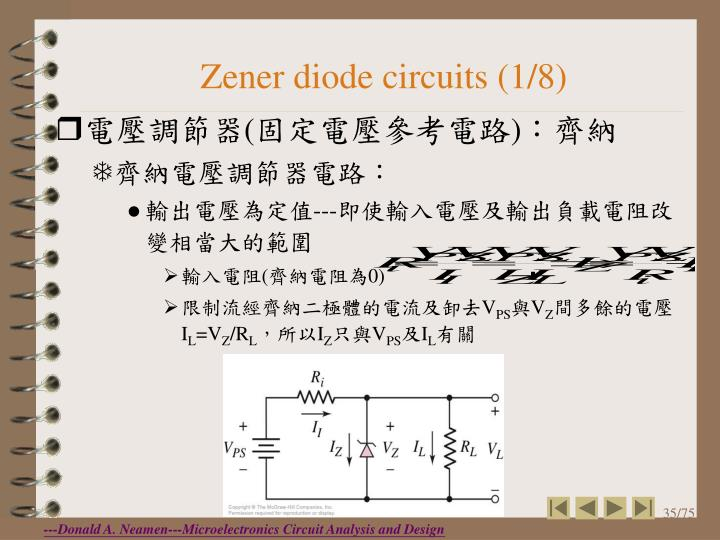Zener diode circuits (1/8)