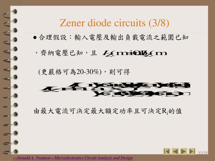Zener diode circuits (3/8)