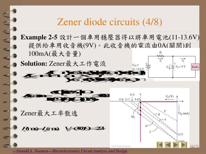 Zener diode circuits (4/8)