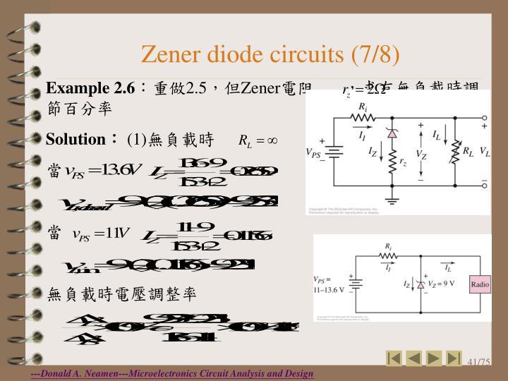Zener diode circuits (7/8)