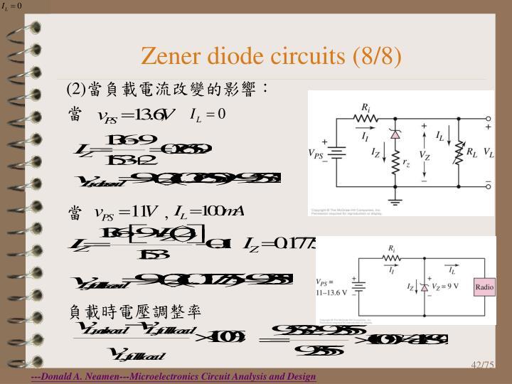 Zener diode circuits (8/8)