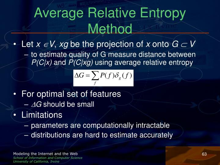 Average Relative Entropy Method