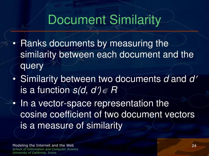 Document Similarity