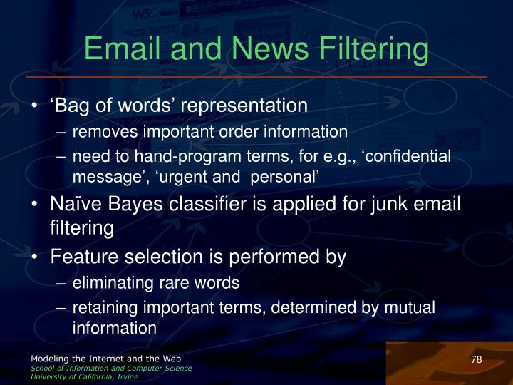 Email and News Filtering