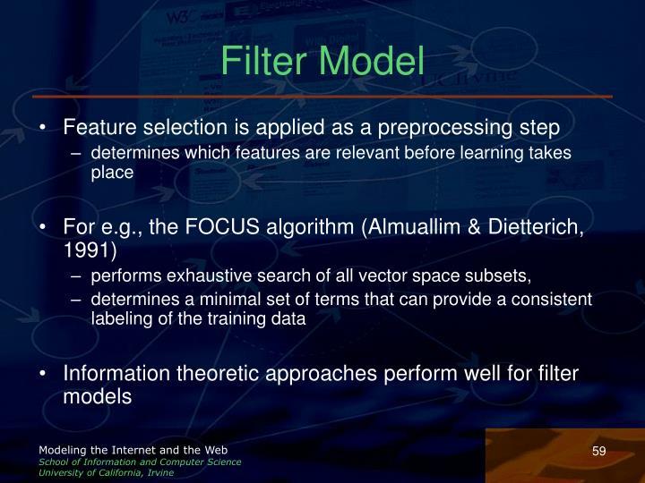 Filter Model