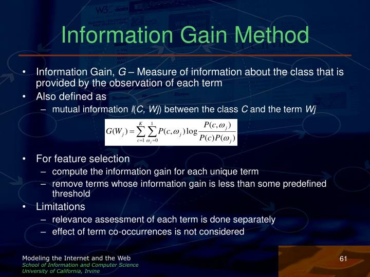 Information Gain Method