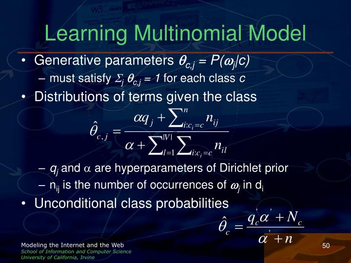 Learning Multinomial Model