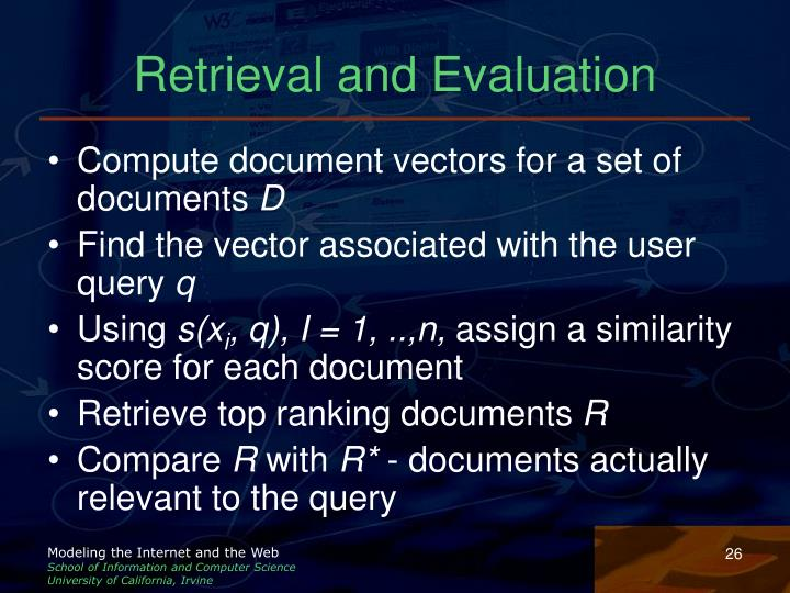 Retrieval and Evaluation