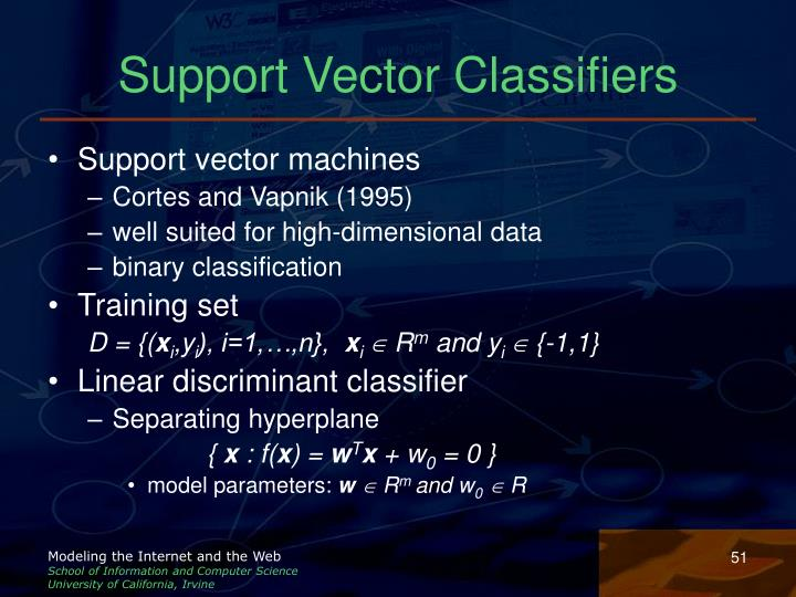 Support Vector Classifiers
