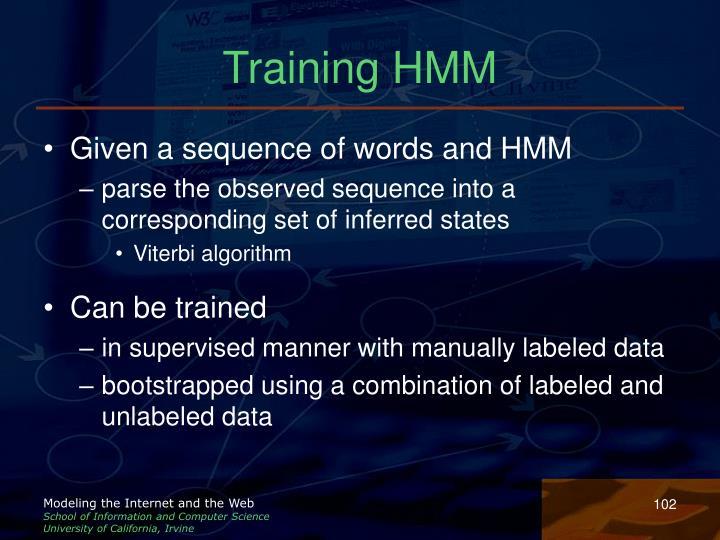 Training HMM