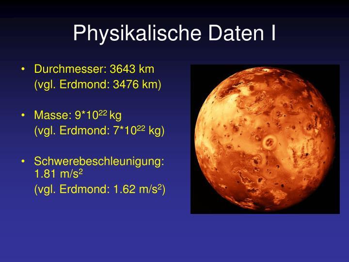 Physikalische Daten I