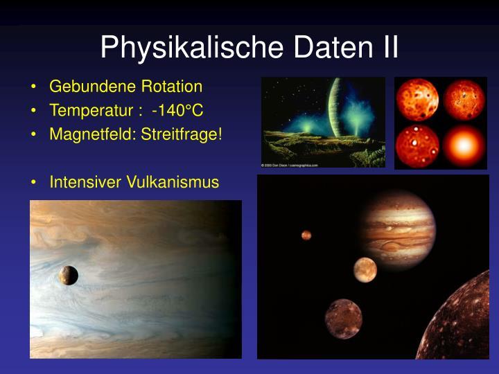 Physikalische Daten II