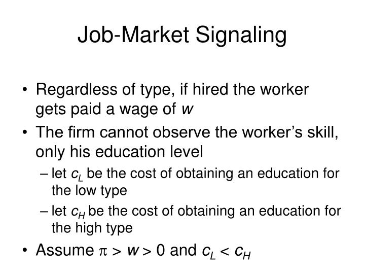 Job-Market Signaling