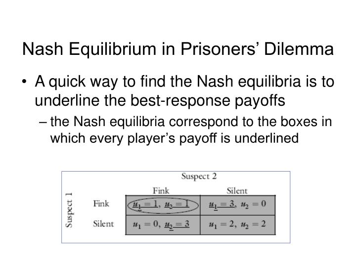 Nash Equilibrium in Prisoners' Dilemma