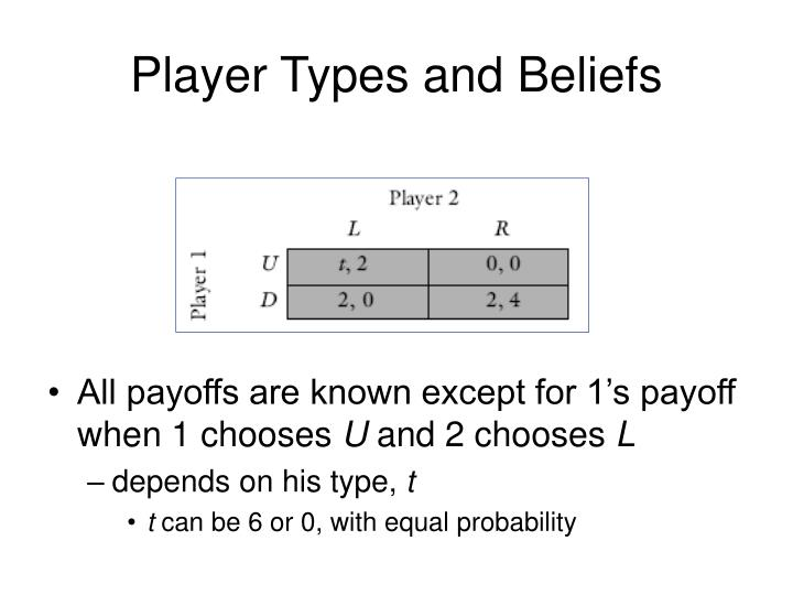 Player Types and Beliefs