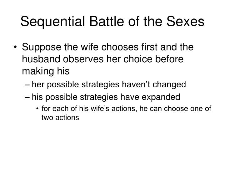 Sequential Battle of the Sexes