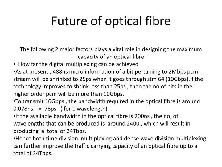 Future of optical fibre