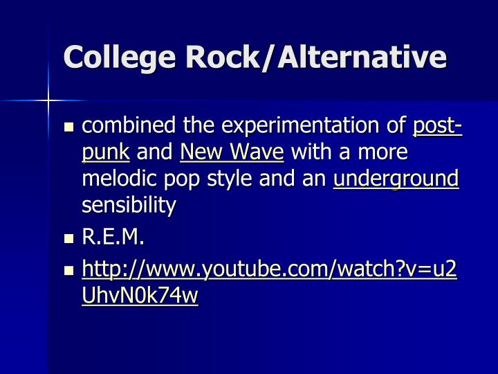 College Rock/Alternative