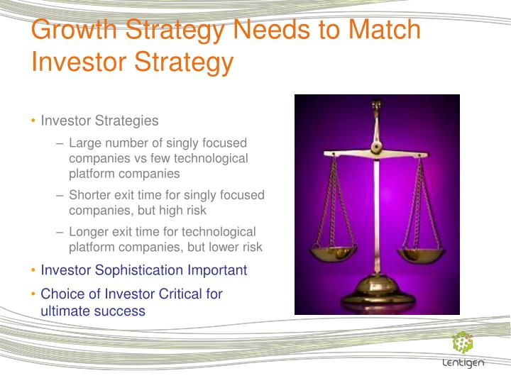 Growth Strategy Needs to Match Investor Strategy