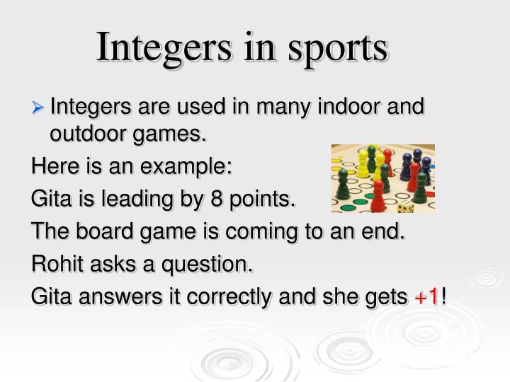 Integers in sports