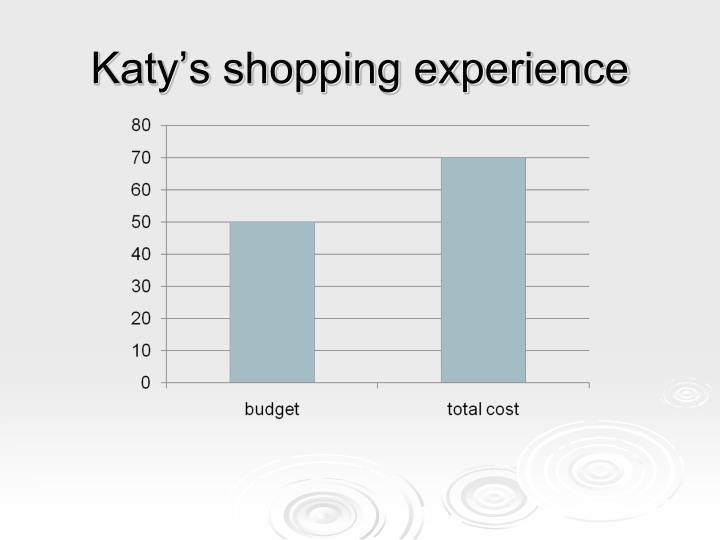 Katy's shopping experience
