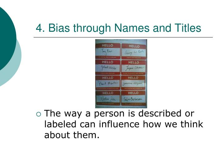 4. Bias through