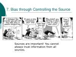 7 bias through controlling the source